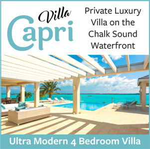 Villa Capri luxury waterfront on Chalk Sound National Park Providenciales Turks and Caicos Islands