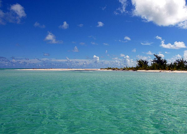 A photograph of the northern end of East Bay Cay East Caicos, Turks and Caicos Islands.